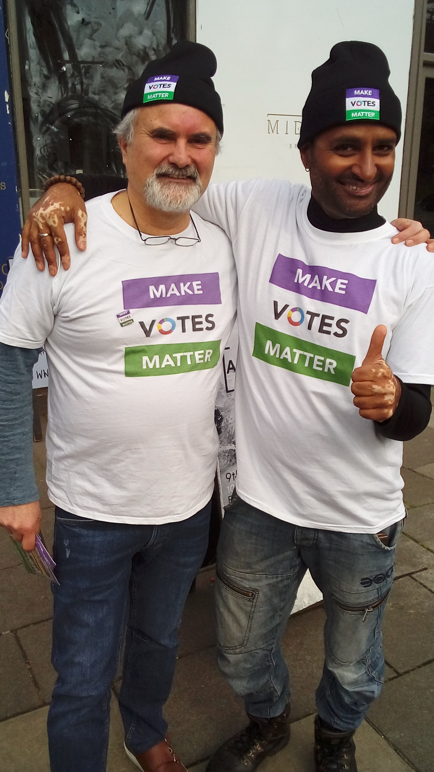 MVM North London out campaigning for PR