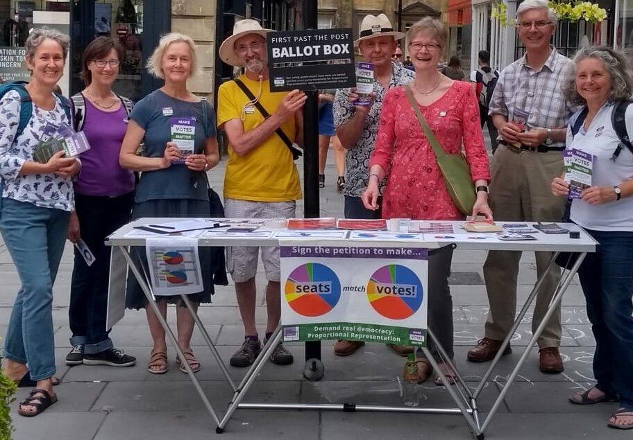 MVM Bath, Demand Democracy Day stall