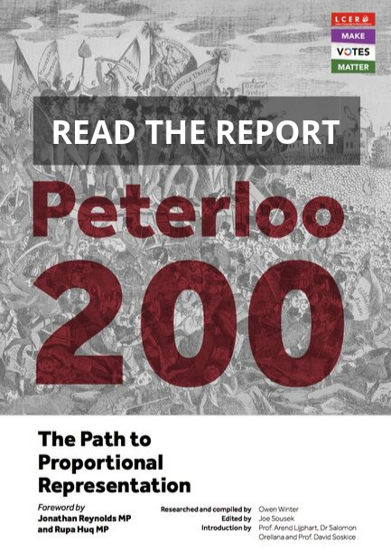 Peterloo: The Path to Proportional Representation