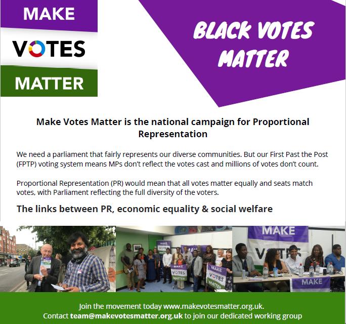 Black Votes Matter leaflet