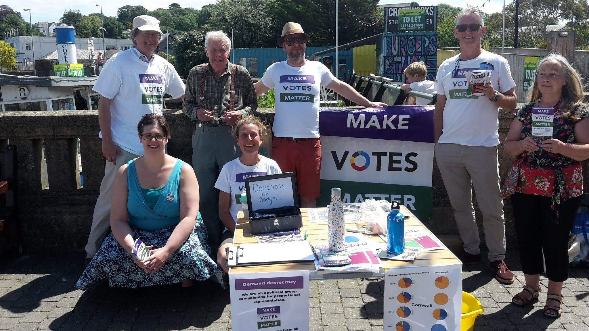 MVM Cornwall taking part in Demand Democracy Day, July 2019