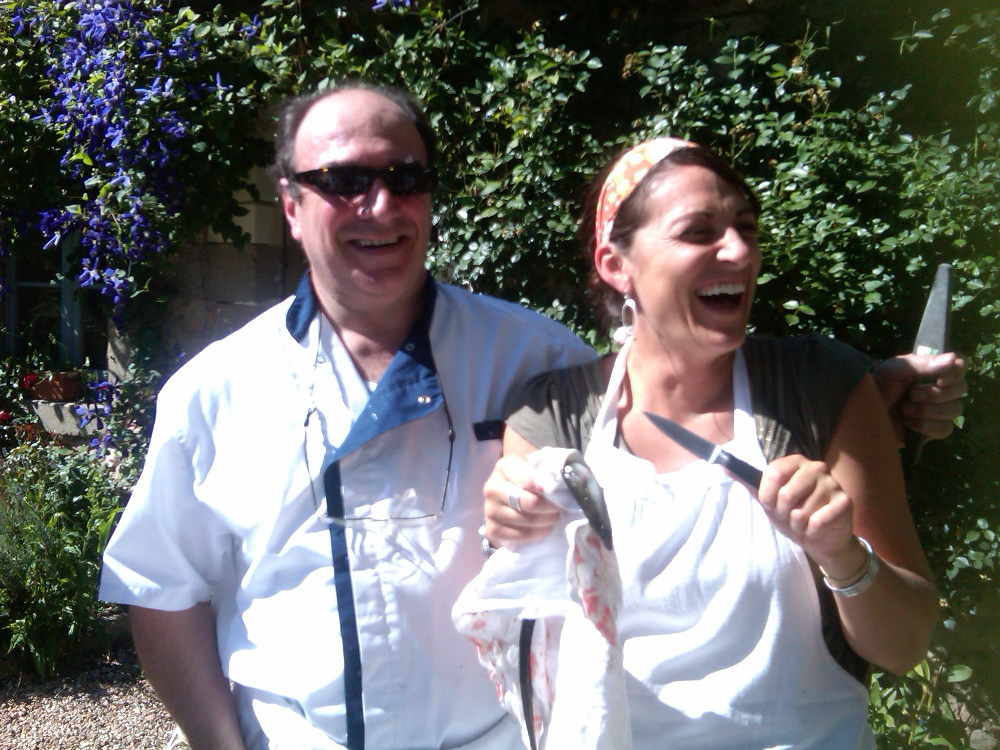 France Skinning Eels with Chef Guy at le Moulin Bregeon.jpg