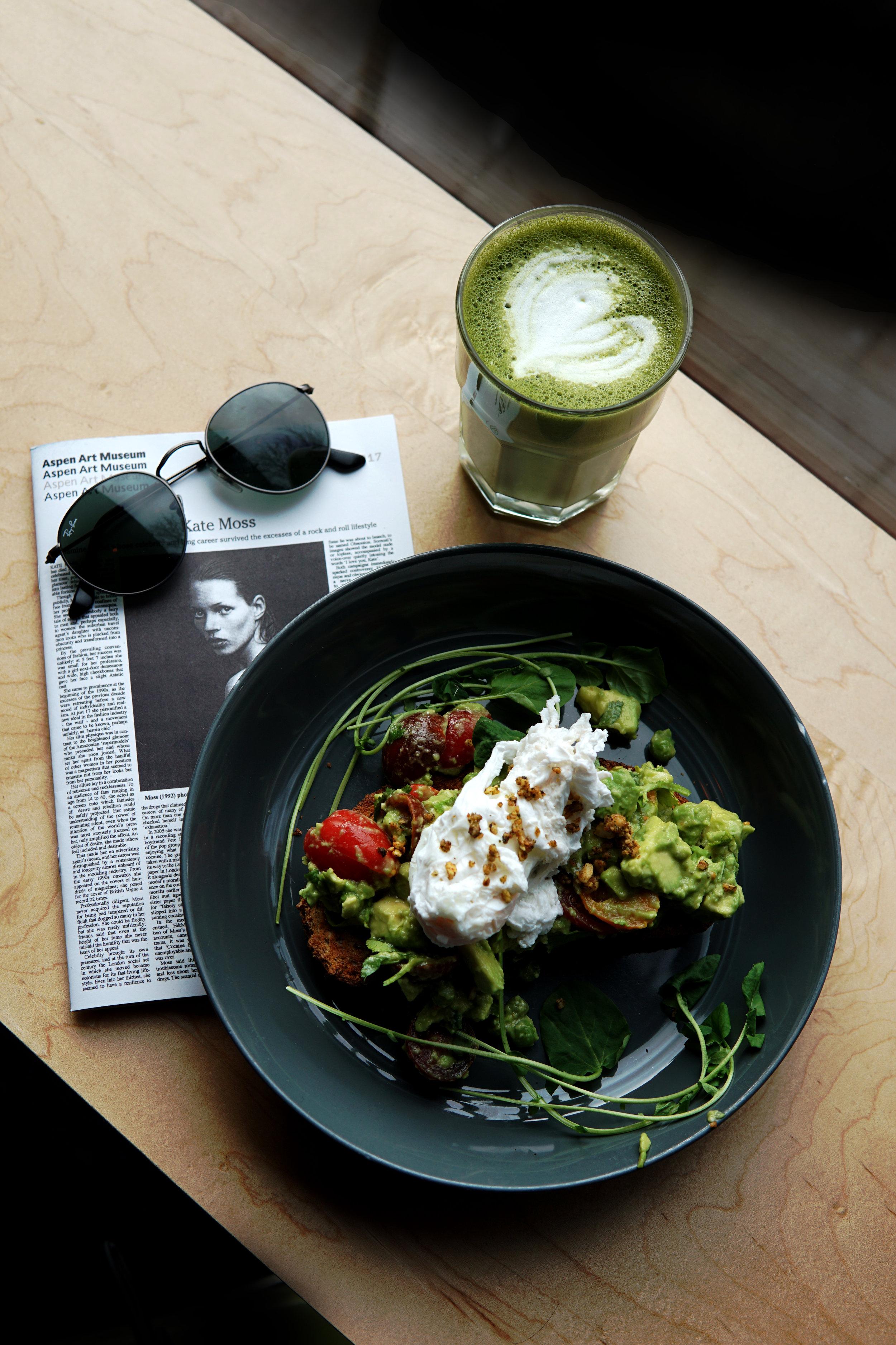 Breakfast and Matcha at Victoria's Espresso Bar