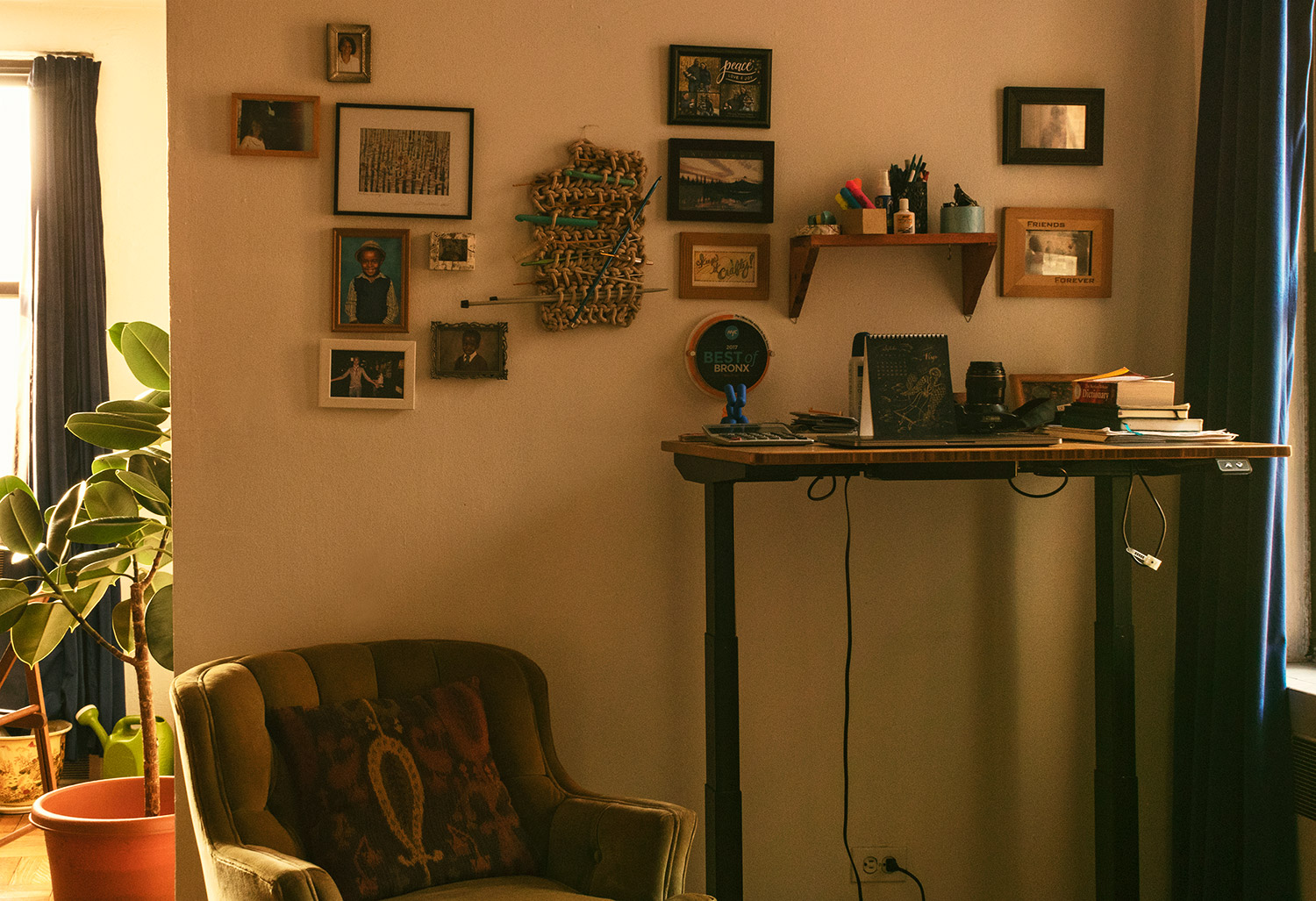 My home office space in the North Bronx, where I do all my work.