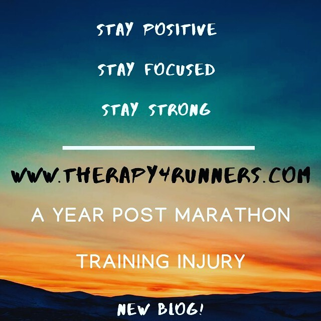 It's been a year since I was injured, just under 5 weeks from #chicagomarathon race day. I've been reflecting a bit on the past year & where to go from here.
