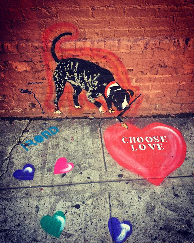 Happy Wednesday!  #chooselove  #streetart
