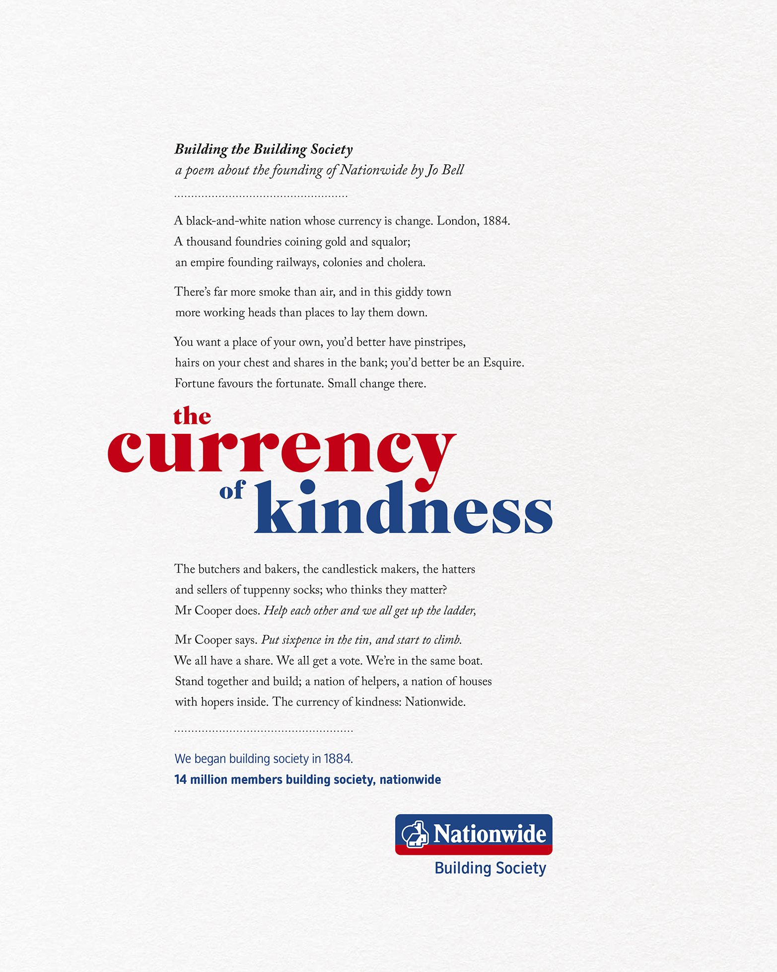 This ad is about the founding of Nationwide by Charles Cooper