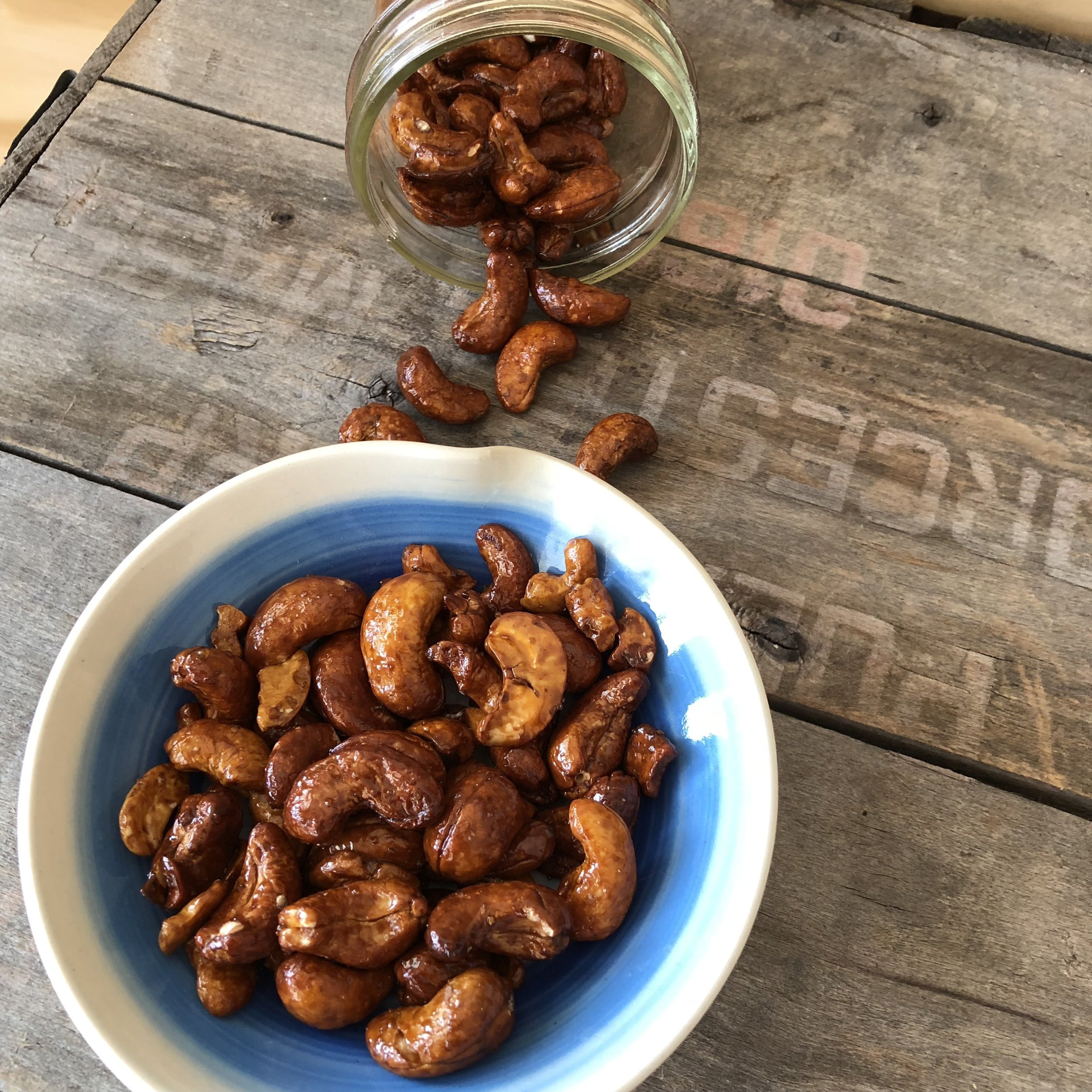 """Serve cashews in a ripple bowl! Part of our """"Seaside"""" Collection!"""