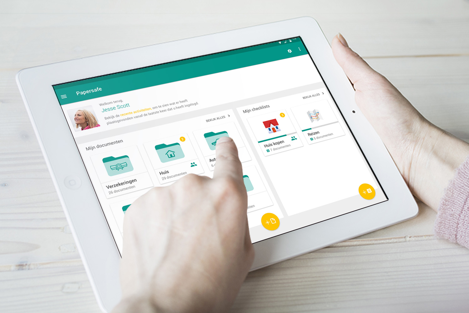 PaperSafe - A cloud-based storage that supports people in managing specific bank's operations.