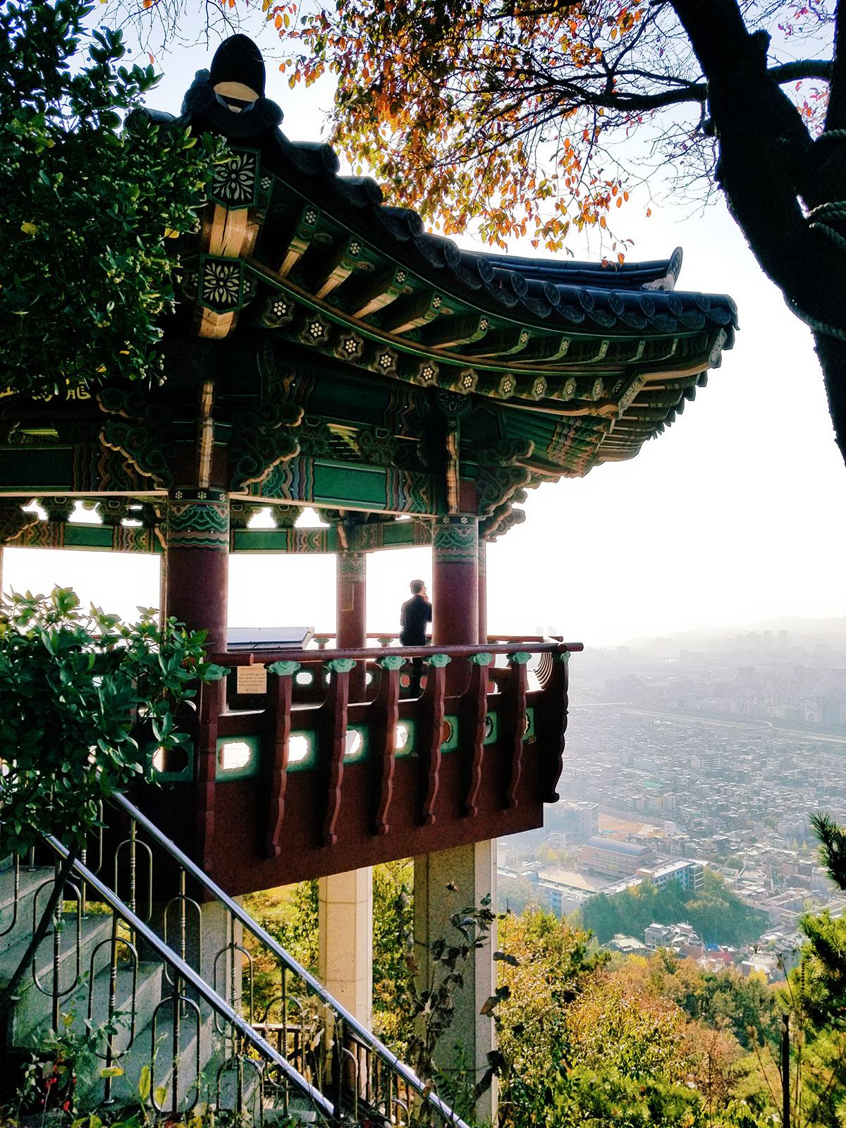 Hiking at Yongma-san this fall.