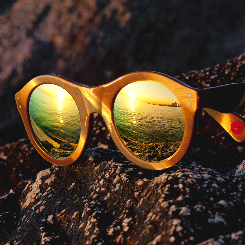 Wilde Sunglasses - Model Sb28 gold - Photo by Robert Adalierd