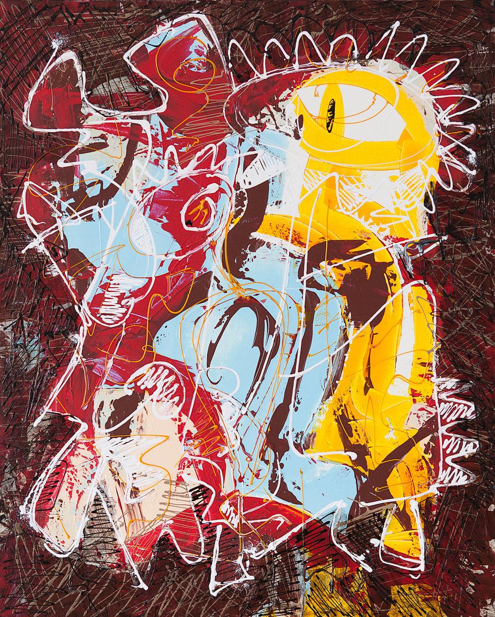 BIRD , 2017.  Acrylic on canvas. 65 X 84 cm. Barcelona.
