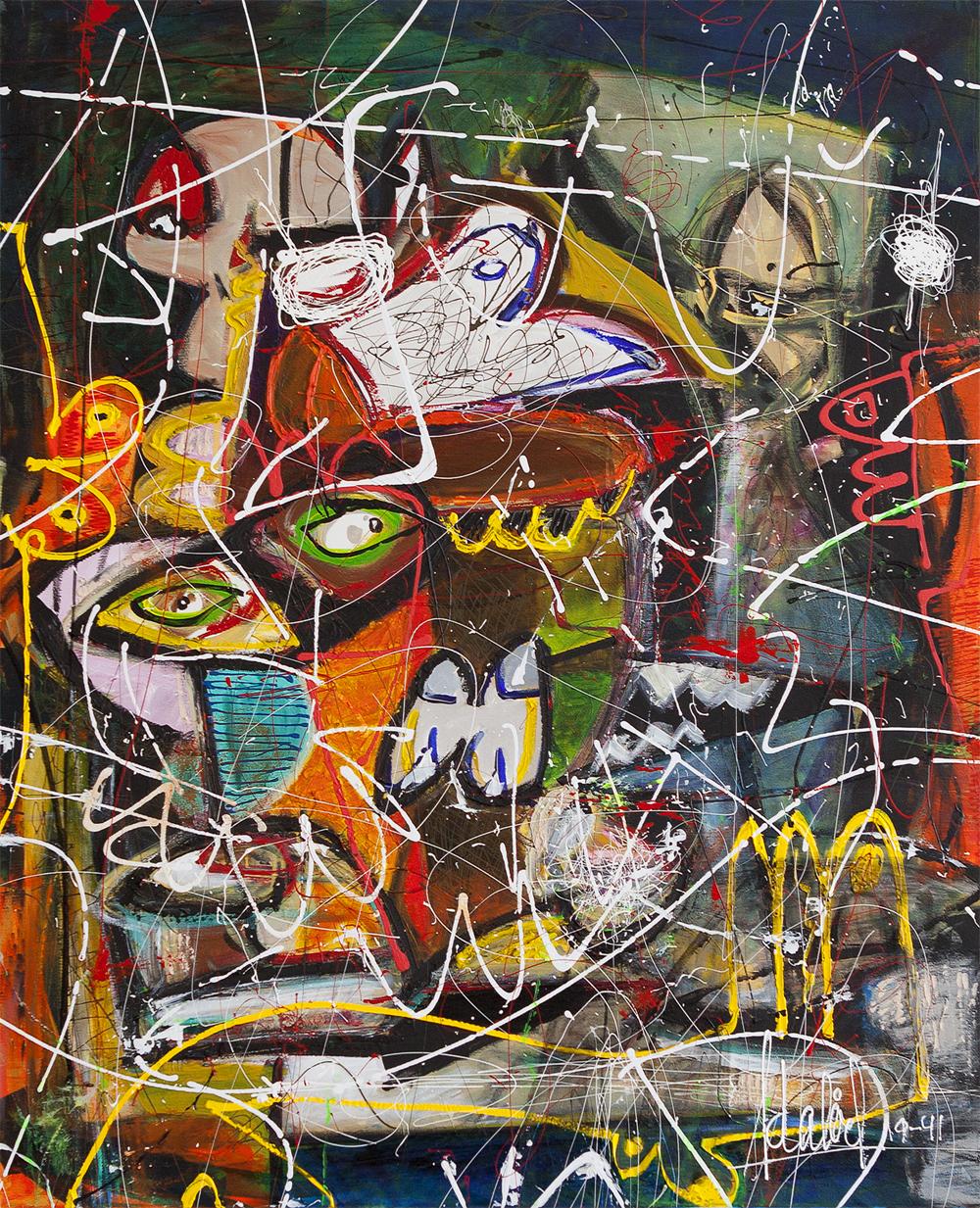 BASTA. 2018. Vienna.  Request offer   Mixed over canvas. 80 x 100 cm