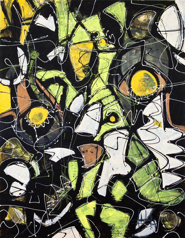 THE GREEN PAINTING   2017. Acrylic on canvas  146 X 114 cm. Barcelona
