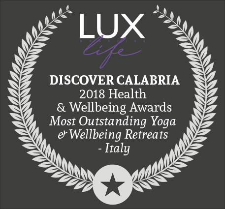 2018 winner best yoga & wellbeing retreats italy - BY: LUX LIFE MAGAZINE, UK