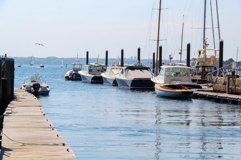 Beautiful harbors just a block away from Thames St, Newport, RI