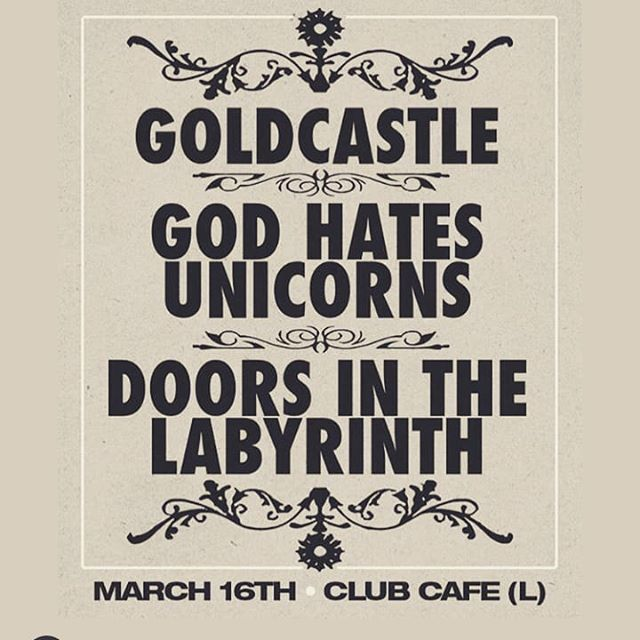 Our first show of 2019 ! We will be playing as God Hates Leprechauns the flyer is wrong. #Rock #shows #Pittsburgh #stpatricksday