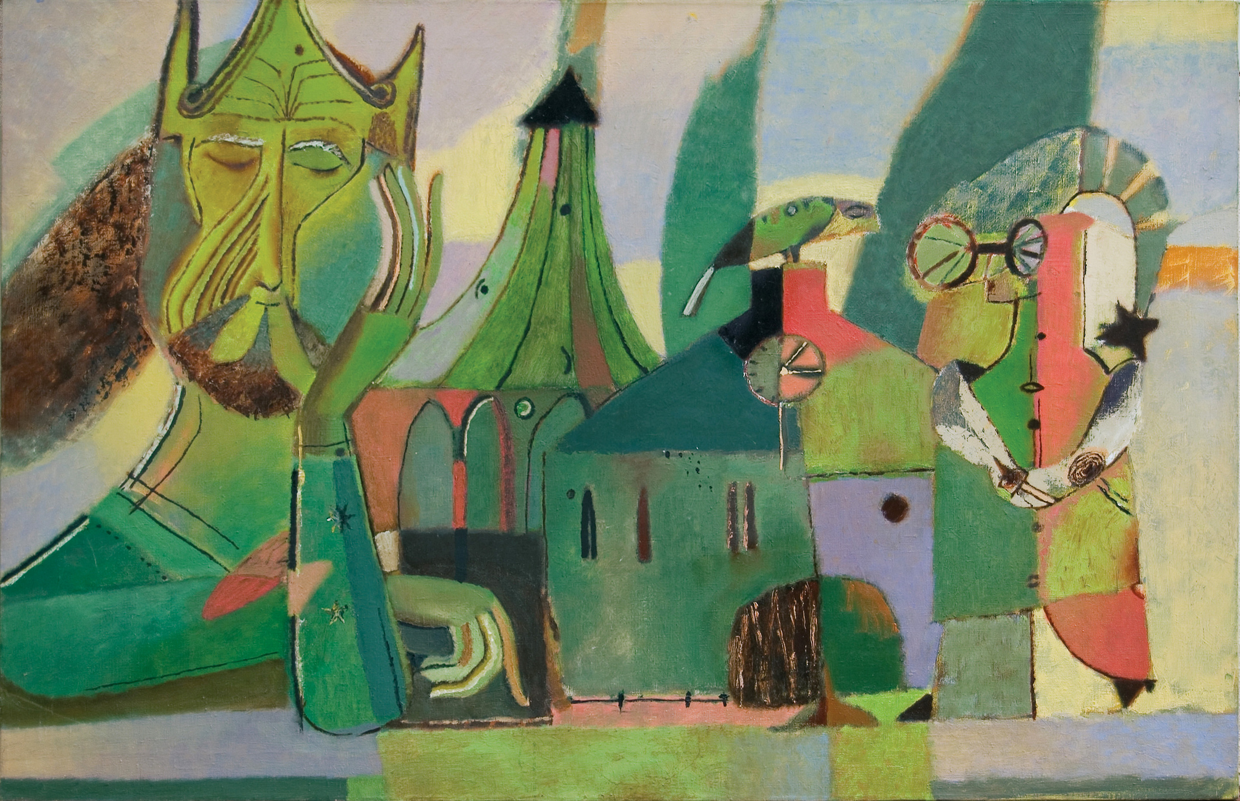 "Emerald City, 2015, Oil on Canvas, 39""x 59"" (100 x 150 cm)"