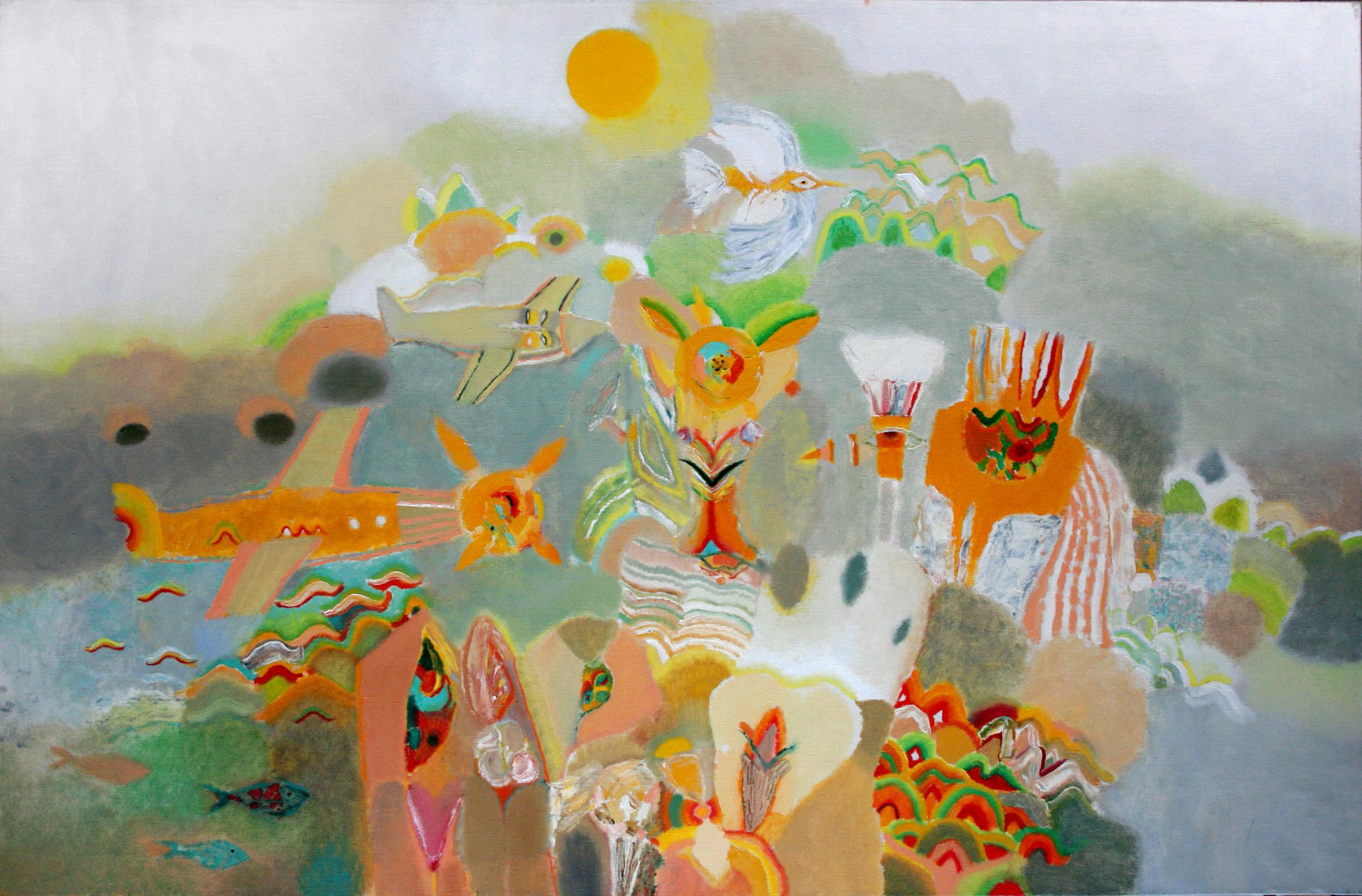 City of sun, 2015, Oil on Canvas, 45 x 69 in (115 х 175 cm)