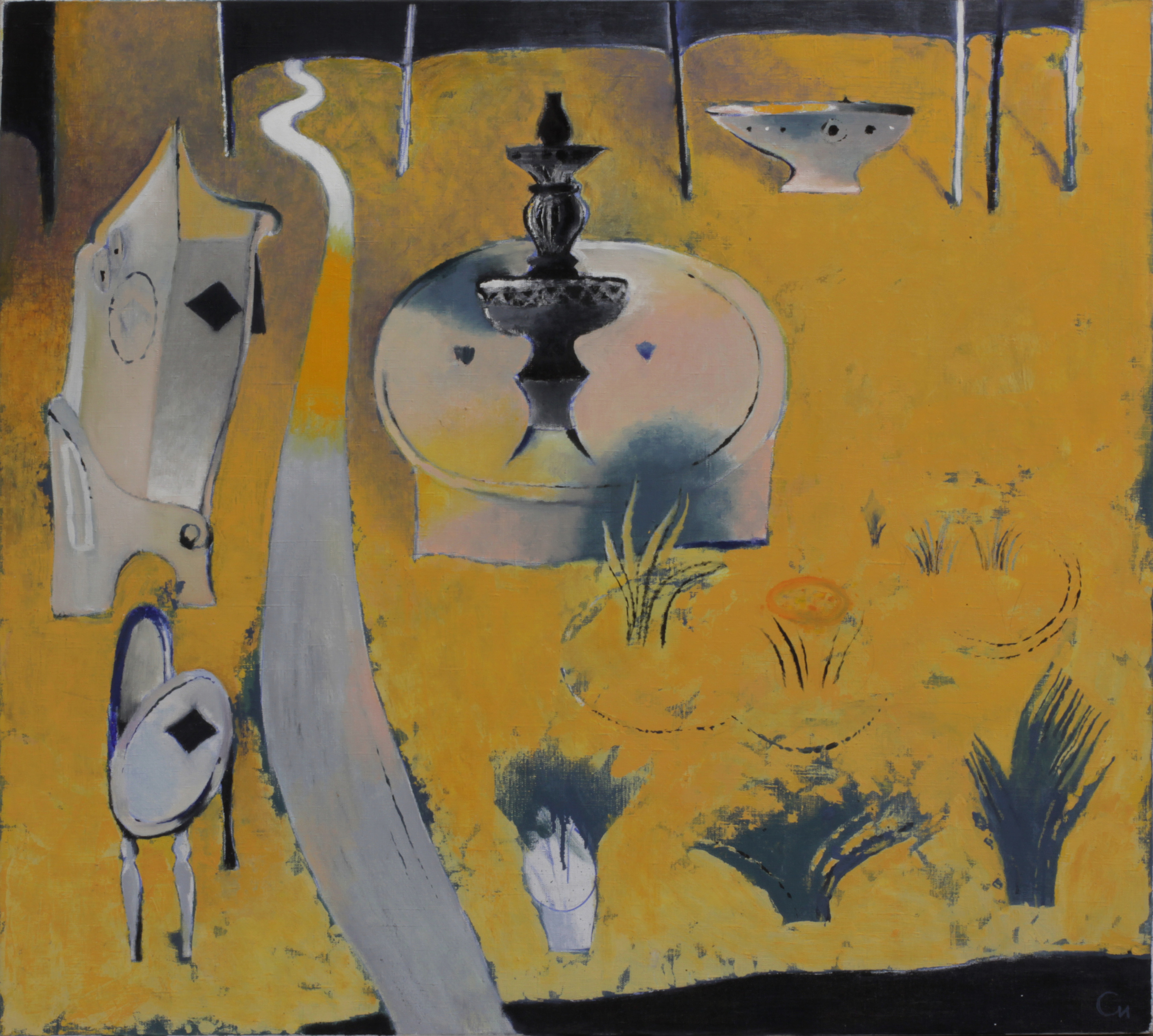Kadzi Sai 3, 2014, Oil on Canvas, 36 x 39 in (90 х 100 cm)