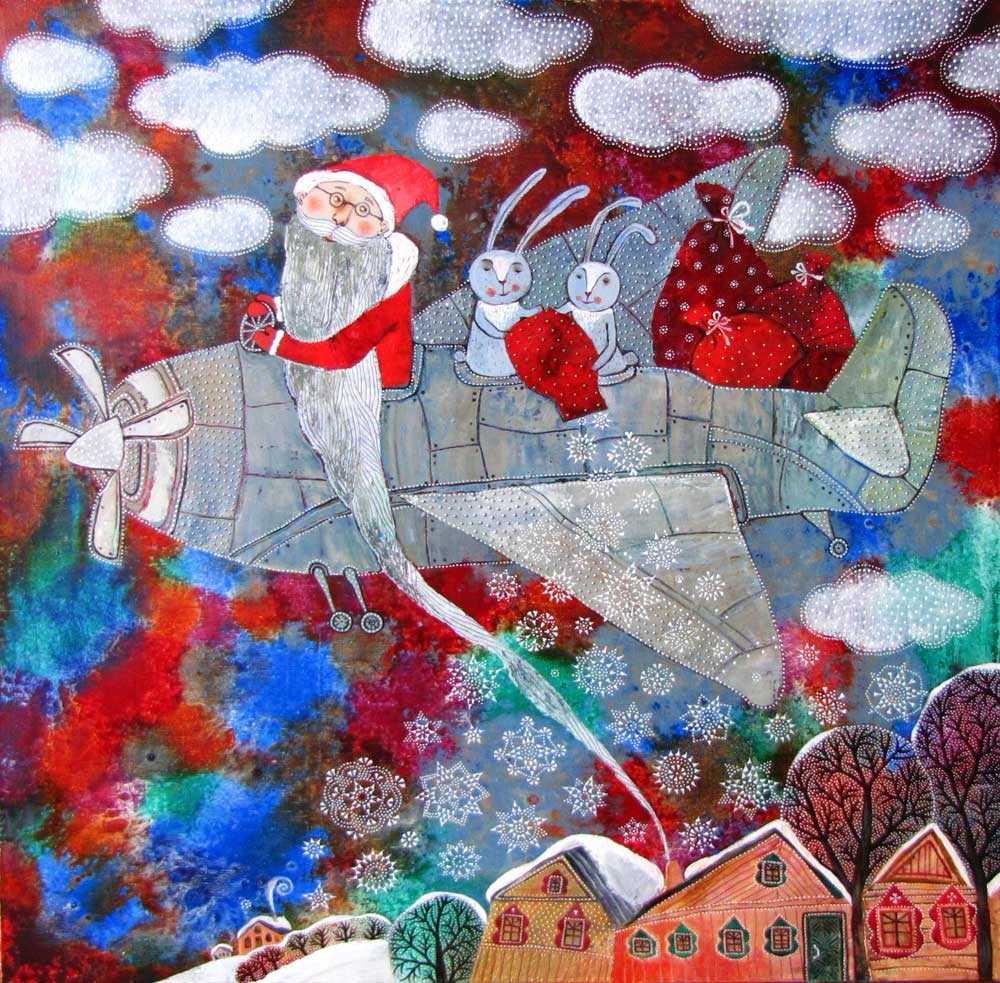 Snowfall, 2012, Oil on Canvas, 24 x 32 in (60 x 80 cm)