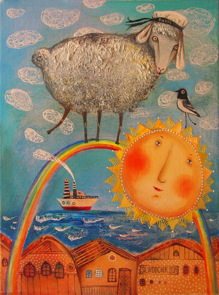 Sea Lamb, 2014, Oil on Canvas, 16 x 12 in (40 x 30 cm)
