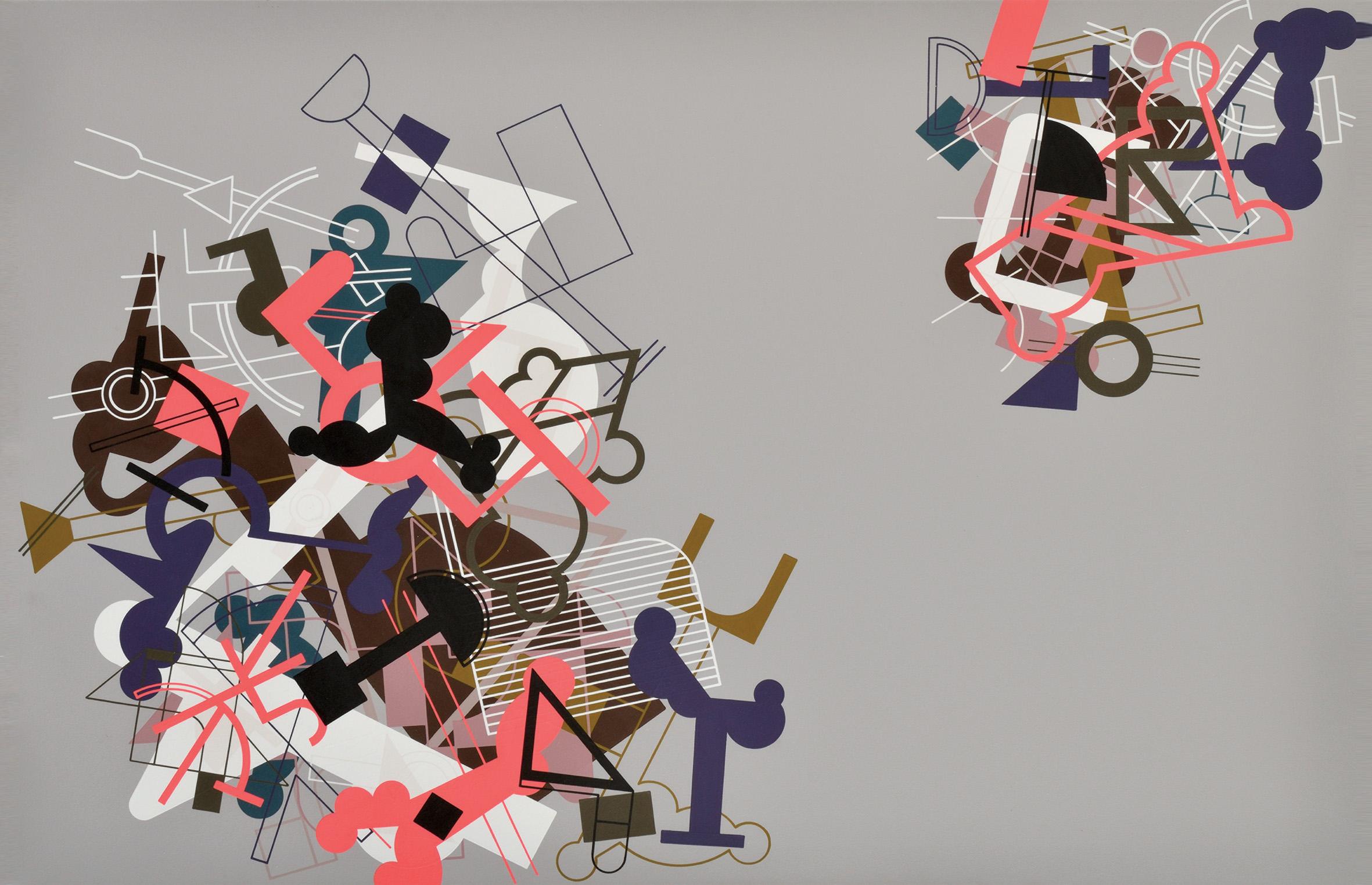 Disturbances 6, 2013, Acrylic on Canvas, 37 x 55 in (95 x 140 cm)