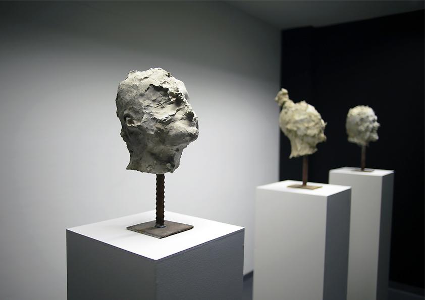 Head I, II, III, 2010 -2014, concrete, 45 x 25 x 20 cm