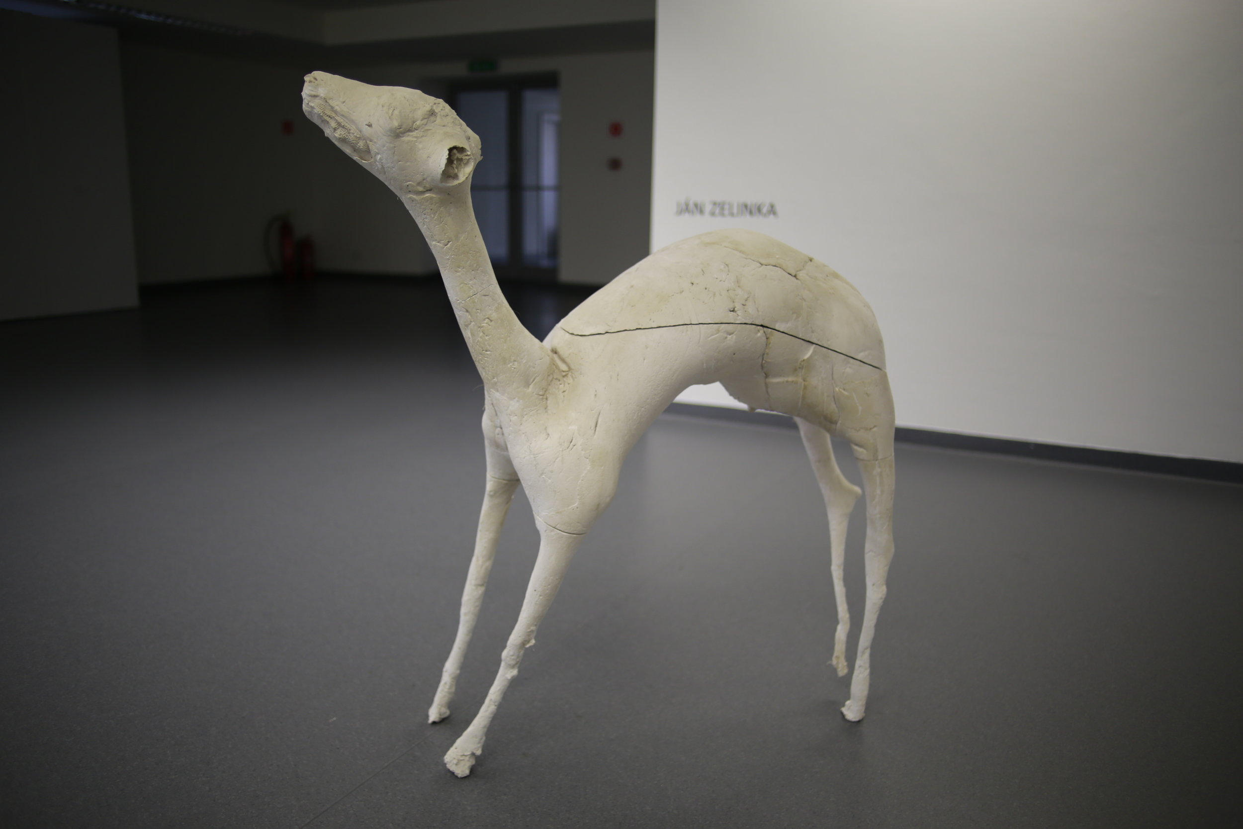 In search of the Essence/Deer, 2013, Plaster, 145 x 80 x 55 cm