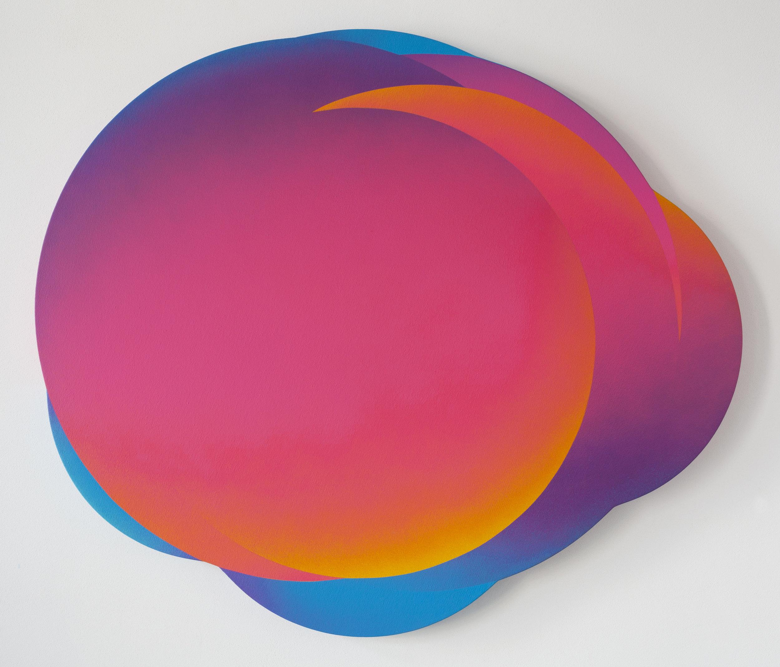 Cloud 9, 2017, Acrylic on Canvas, Ø 95 cm (37.4 in)
