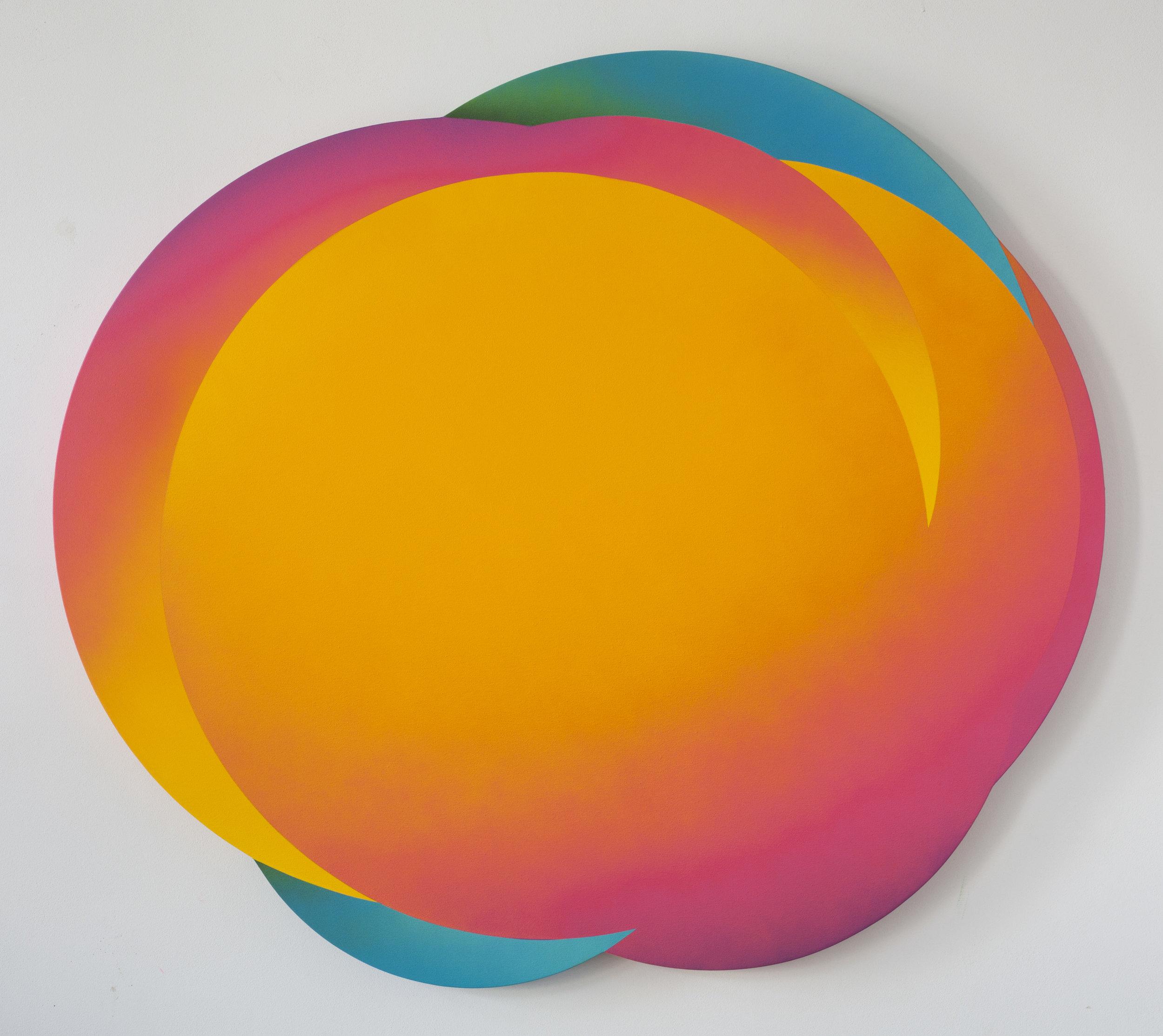 Cloud 9 (II), 2017, Acrylic on Canvas, 125 x 130 cm (49 x 51.2 in)