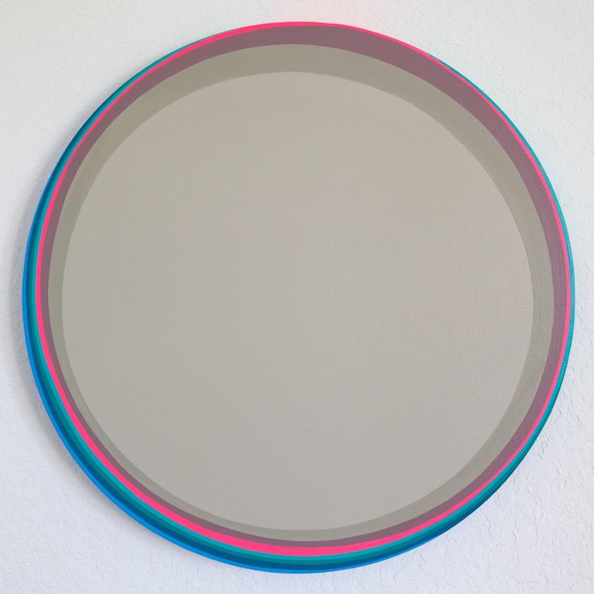 Veneto, 2018, Acrylic on Canvas, 24 in diameter