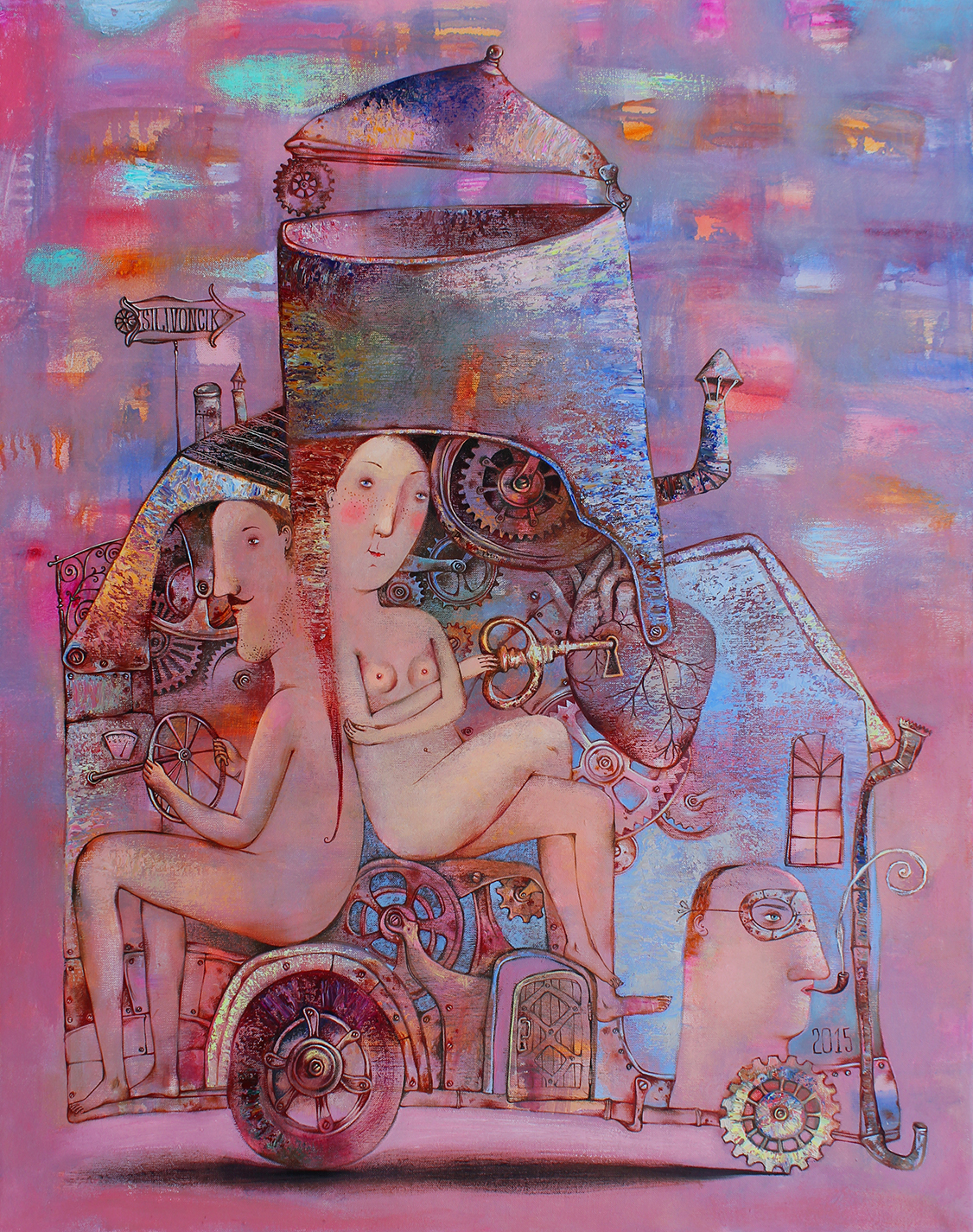 Anna Silivonchik, Journey Inwards, 2015, Oil on Canvas, 39 x 36 in (100 x 90 cm)