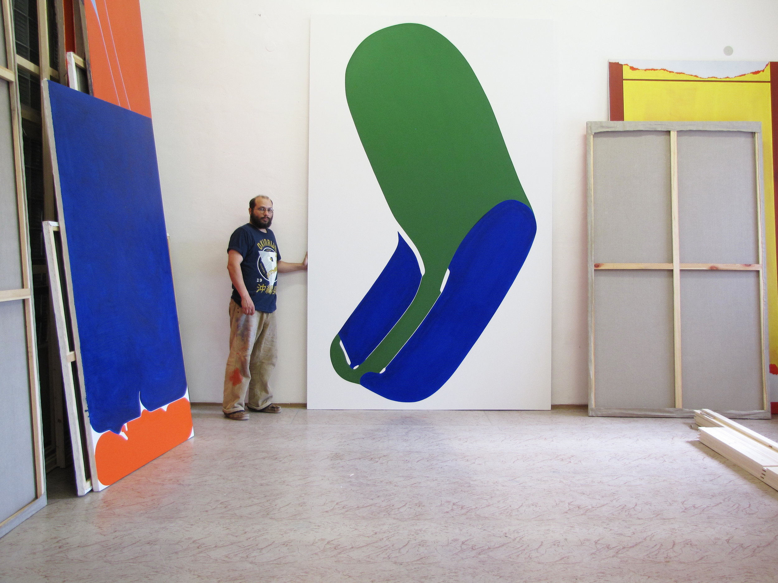 Martin Moflar, Disguise, 2014, Oil on Canvas, 126 x 78 inch (320,4 x 199 cm)