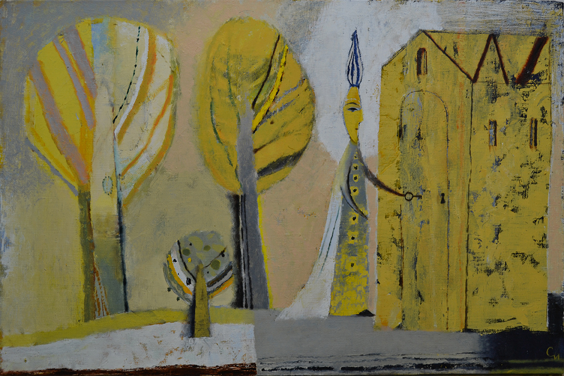 Return, 2019, Oil on Canvas, 23 3/5 × 35 2/5 in (60 x 90 cm)