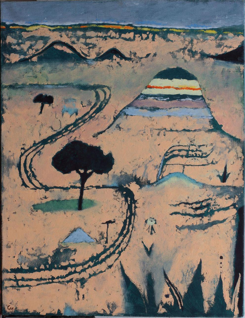 Kadzi Sai, 2014, Oil on Canvas,  25.6 x 19.7 in  (65 x 50 cm)