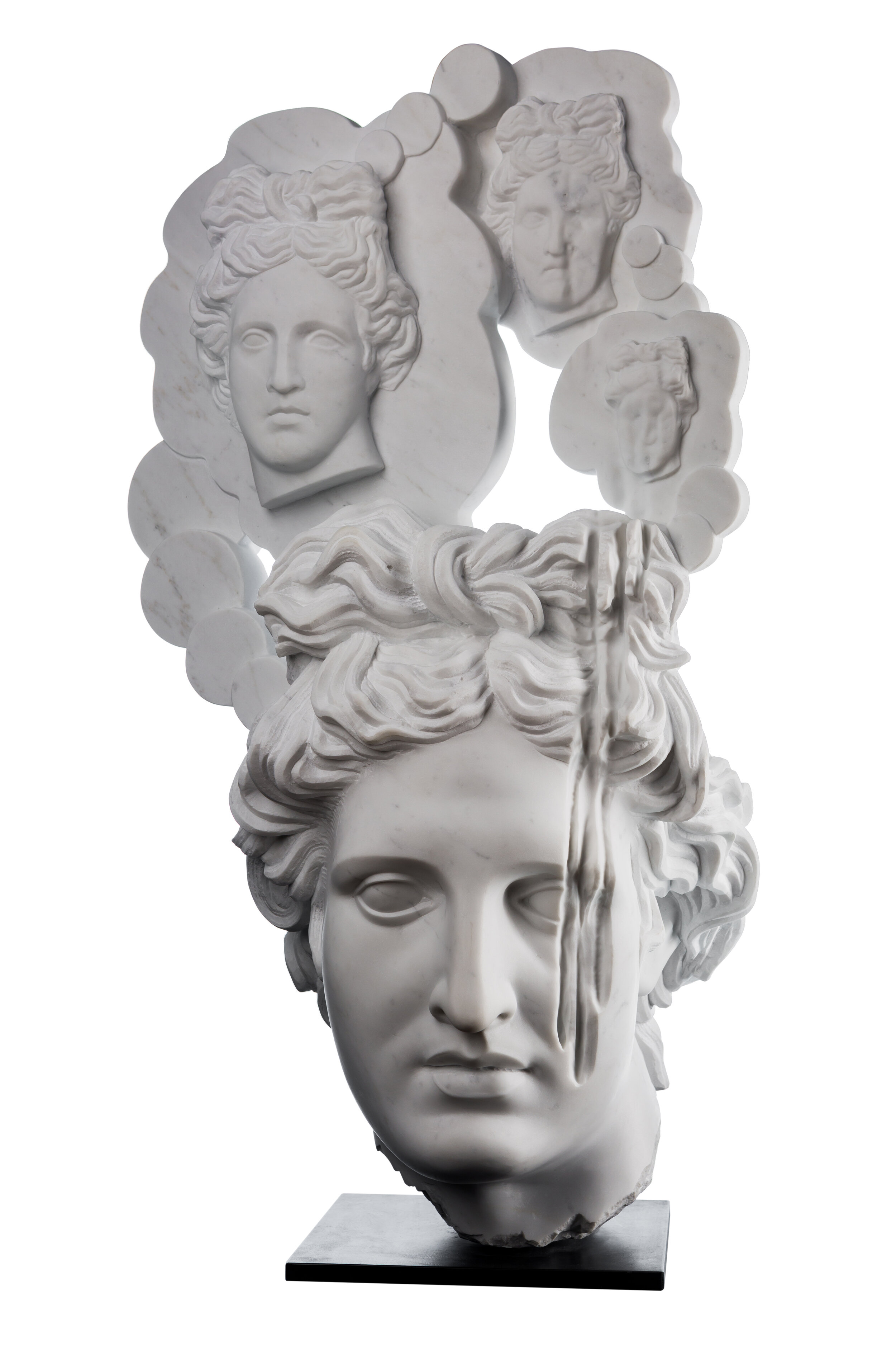 Narcissus, 2018, Marble 22 2/5 x 41 3/10 x 18 1/2 in (57 x 105 x 47 cm)