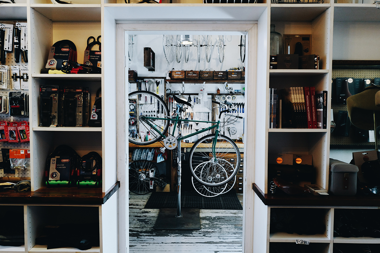 Heritage Coffee's Bike Shop