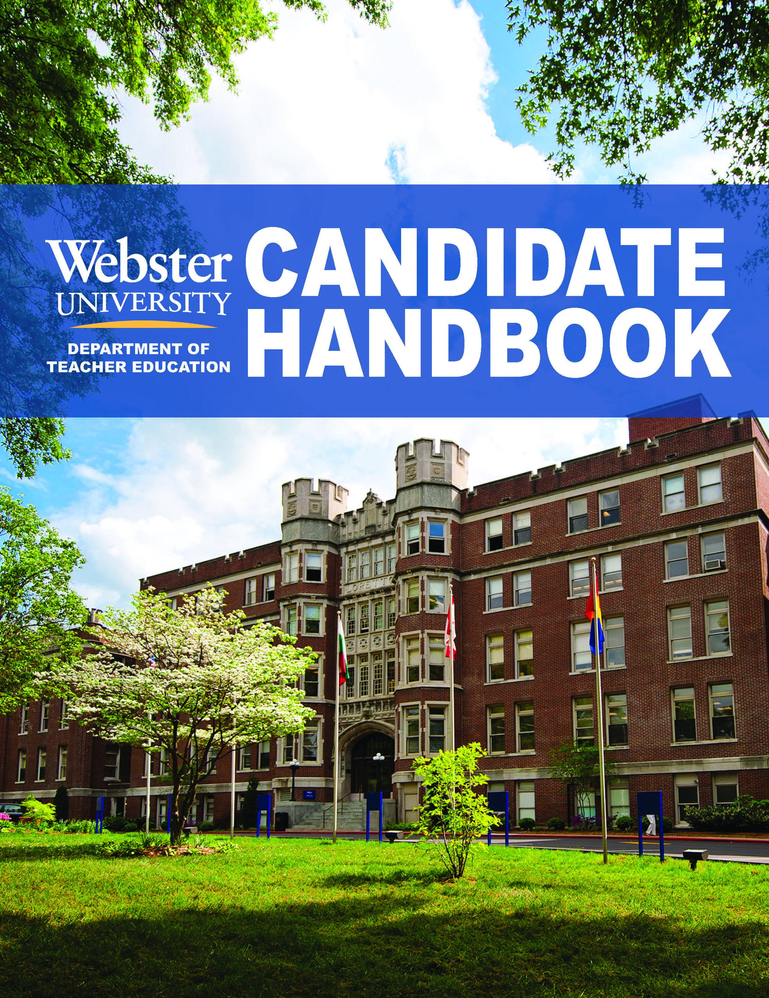 Department of Teacher Education Candidate Handbook