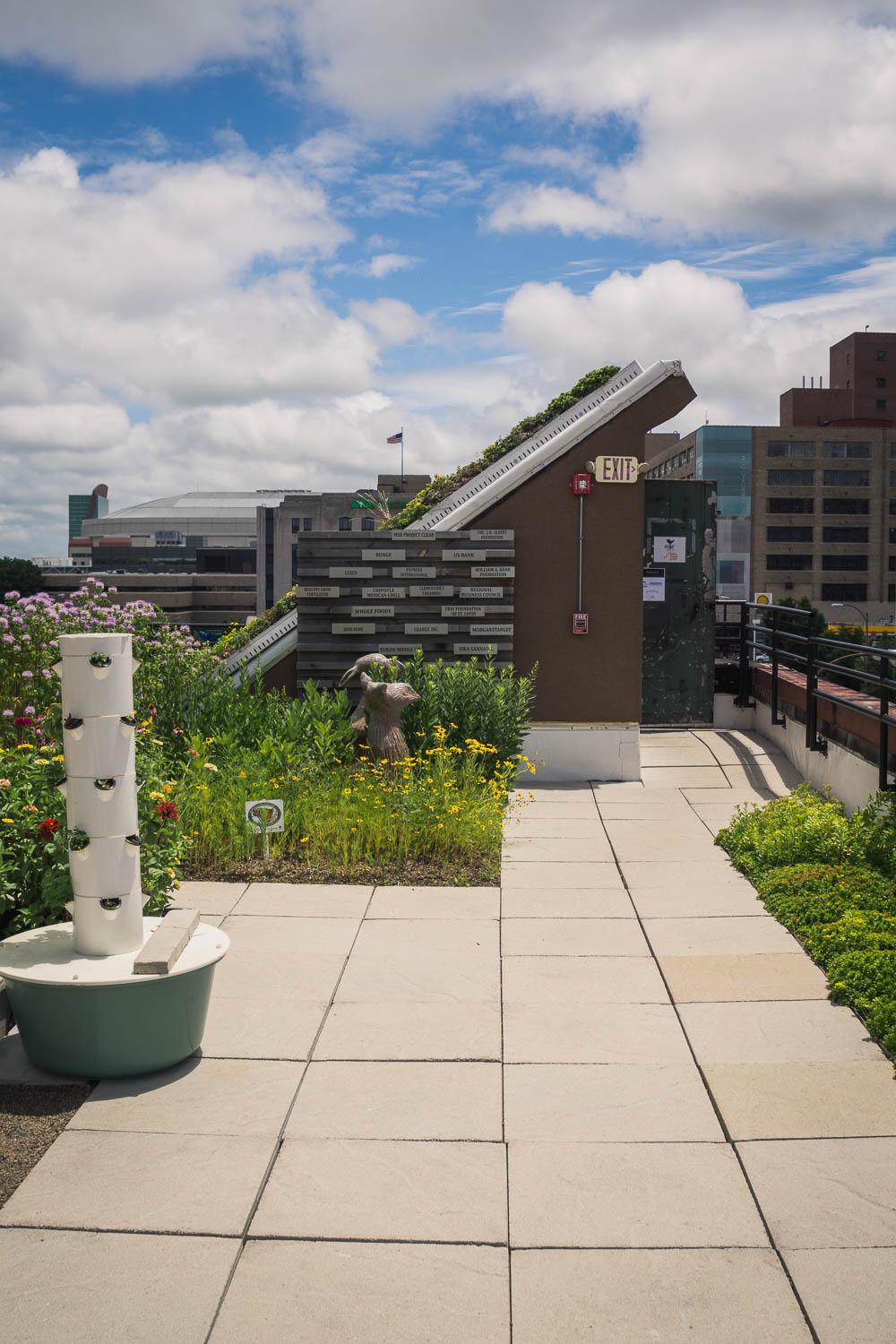 Food Roof Farm by Urban Harvest STL utilizes each square inch of the roof to harvest rainwater.