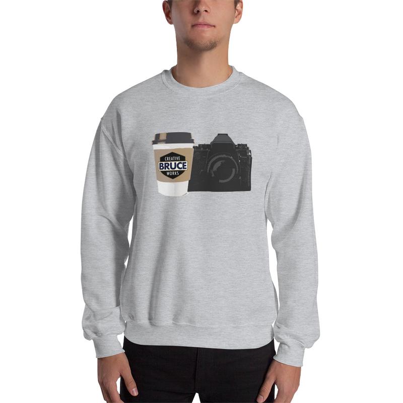 Cameras and Coffee Sweatshirt Mockup