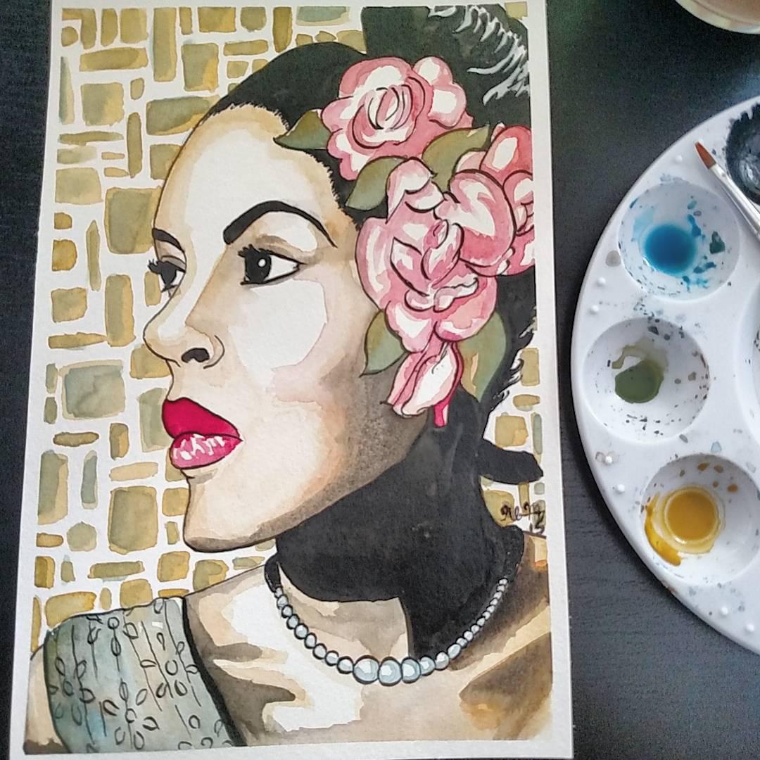Traditional - Watercolor - Jazz Greats - Billie Holiday.jpg