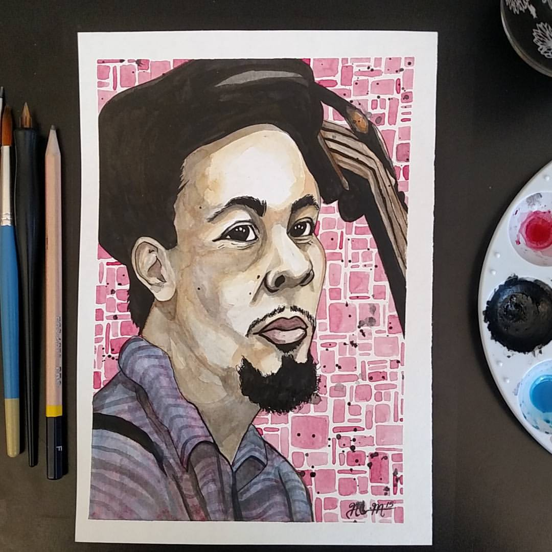 Traditional - Watercolor - Jazz Greats - Charles Mingus.jpg