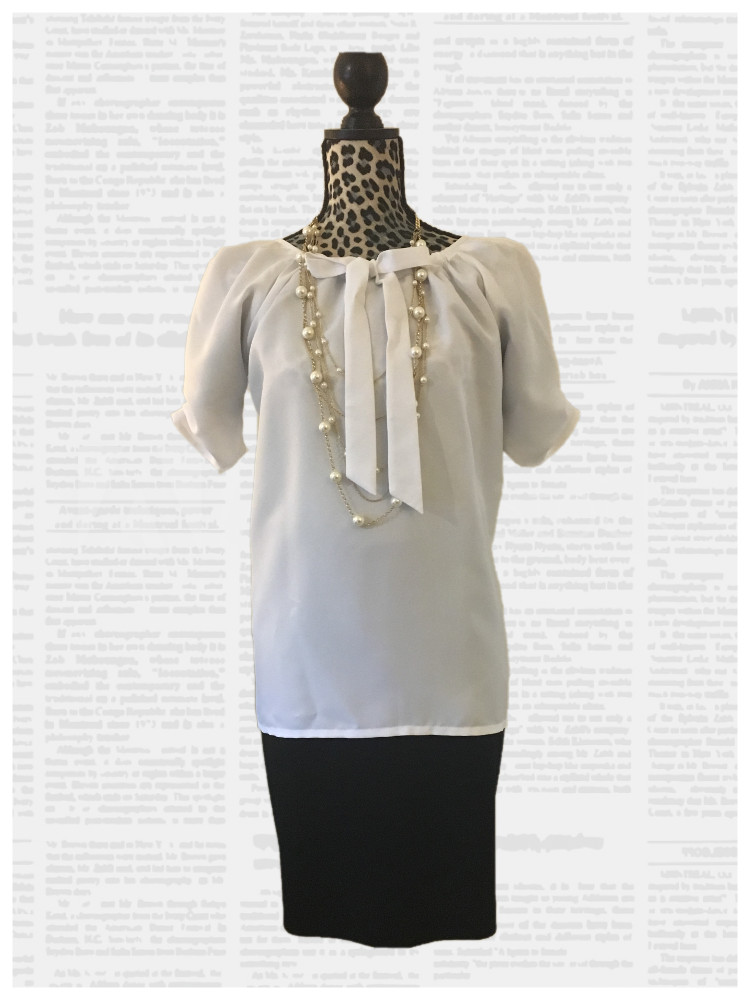 V-shape top, which is full in the shoulders .
