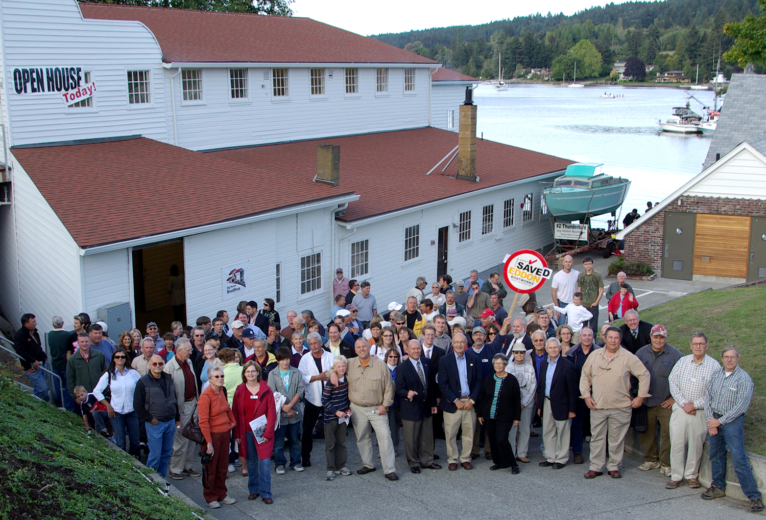 Community celebrates completion of the Eddon Boat Restoration Project in 2009.