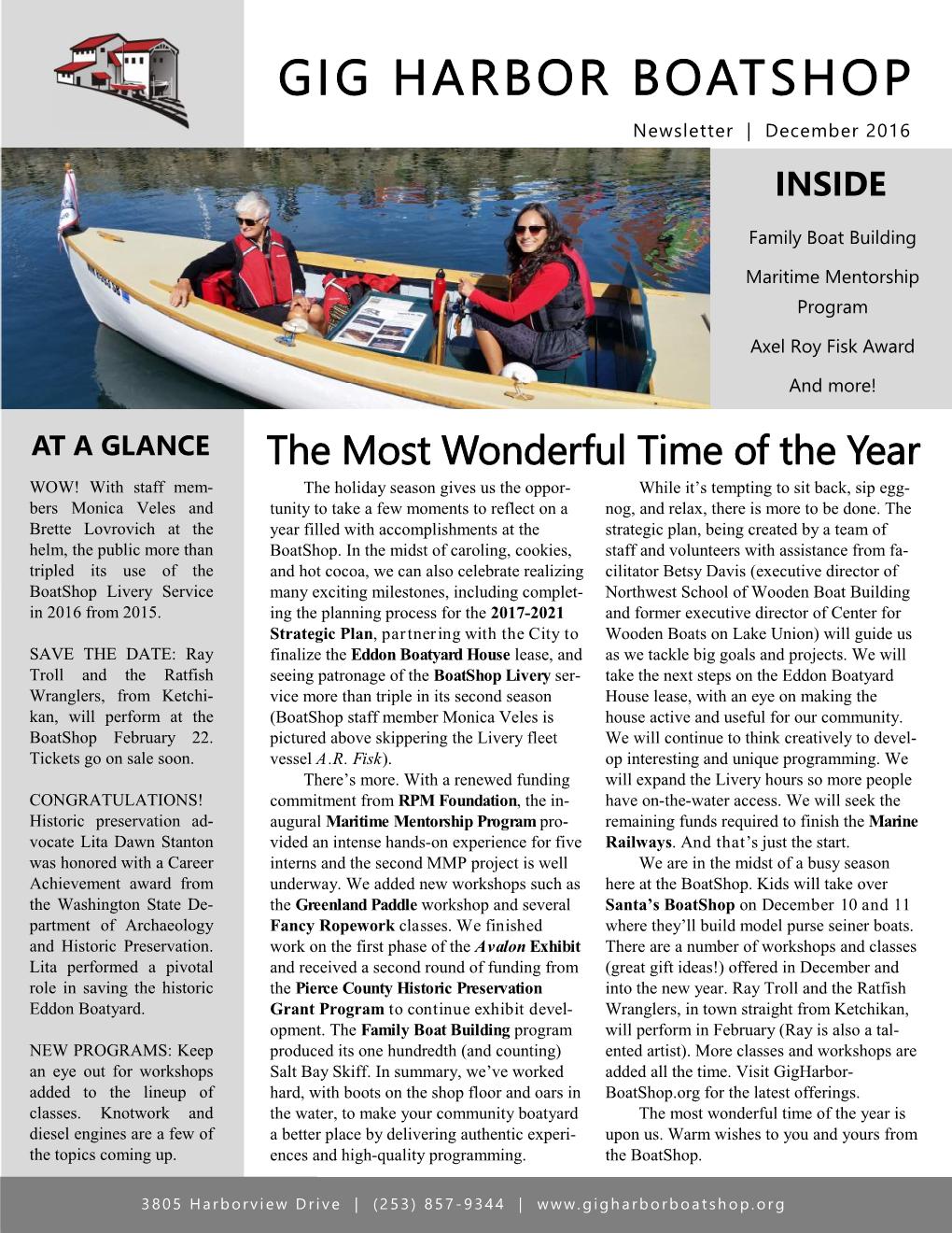 December 2016 Newsletter (click on image to enlarge)