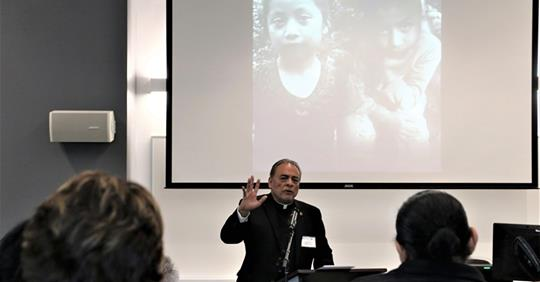 Msgr Arturo Banuelas, Pastor of St. Mark's Parish in El Paso, TX