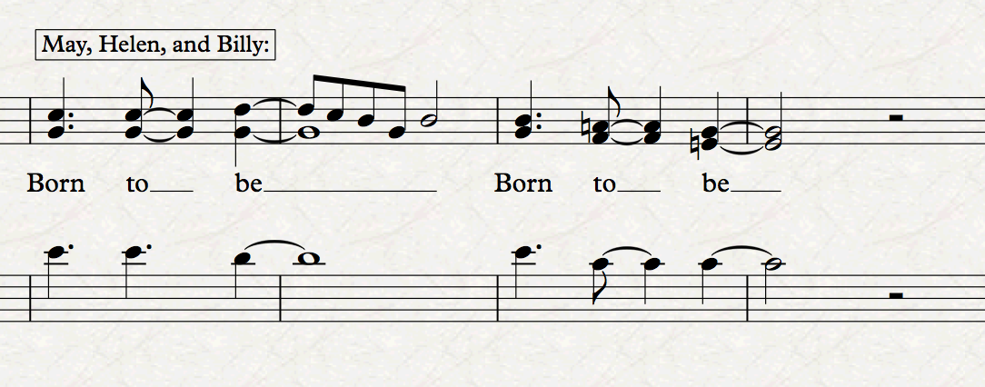 """""""Born to Be"""" from  Super Iron Cooking Chef , Music by Travis Frank, Lyrics by Travis Frank, Nora Germani, and Noah Hazzard"""