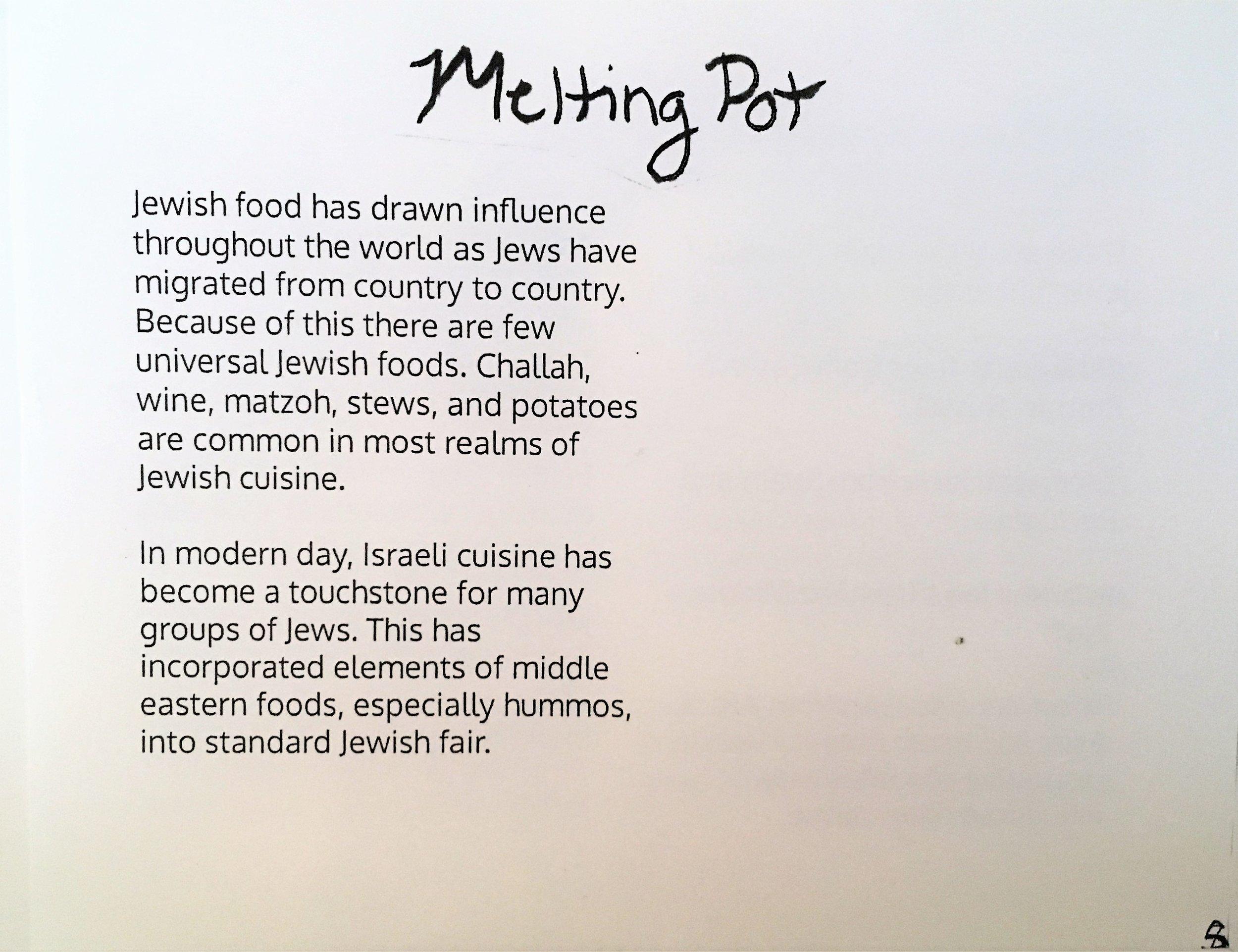 Melting Pot of Jewish Food, inside image