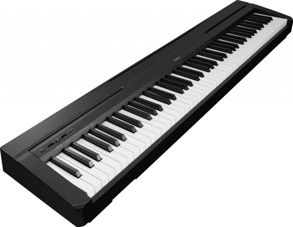 An electronic keyboard.